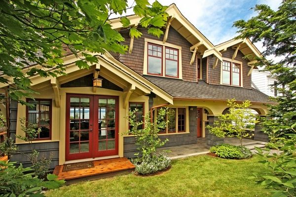 Contrasting Color Eaves House Exterior Forexteriorcolor - Craftsman style exterior house color combinations for homes