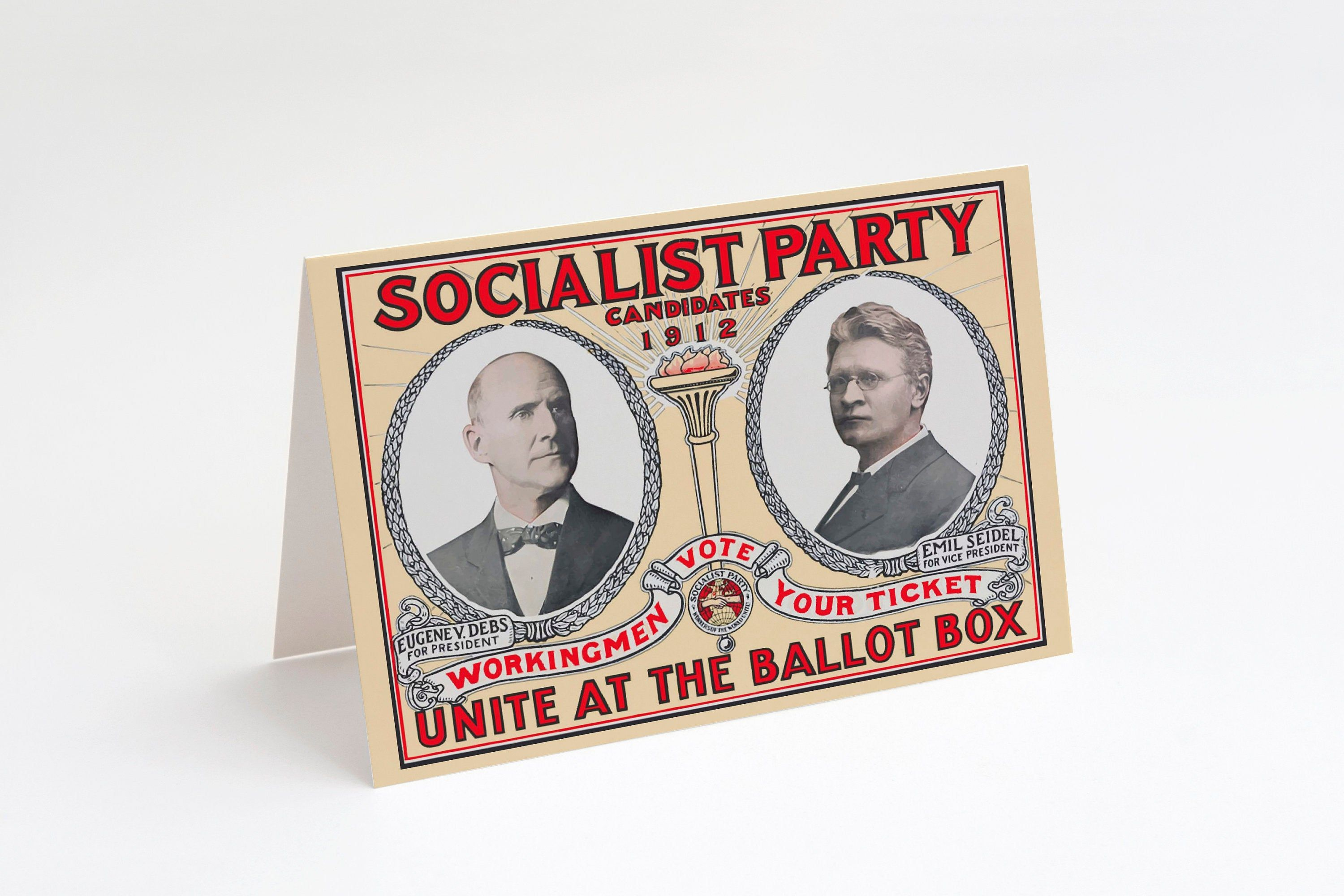 Printable Socialist Party 1912 Campaign Poster Notecard Etsy Campaign Posters Retro Printables Printable Note Cards