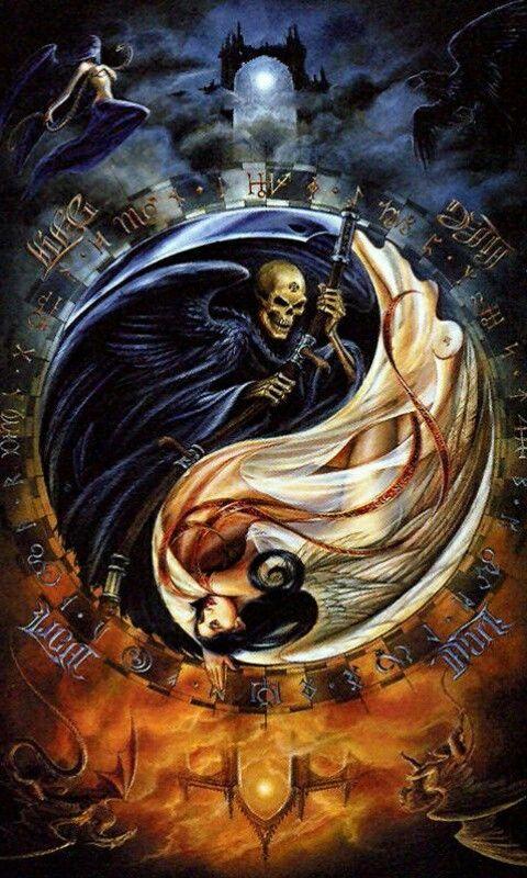 Yin - Yan | Santa muerte, Tatuajes de santa muerte, Imagenes de ...