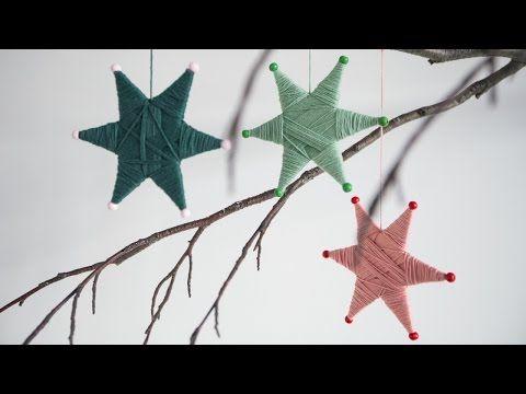 Anna ha llegado con una idea para la decoración de su casa, se trata de estrellas de hilos.