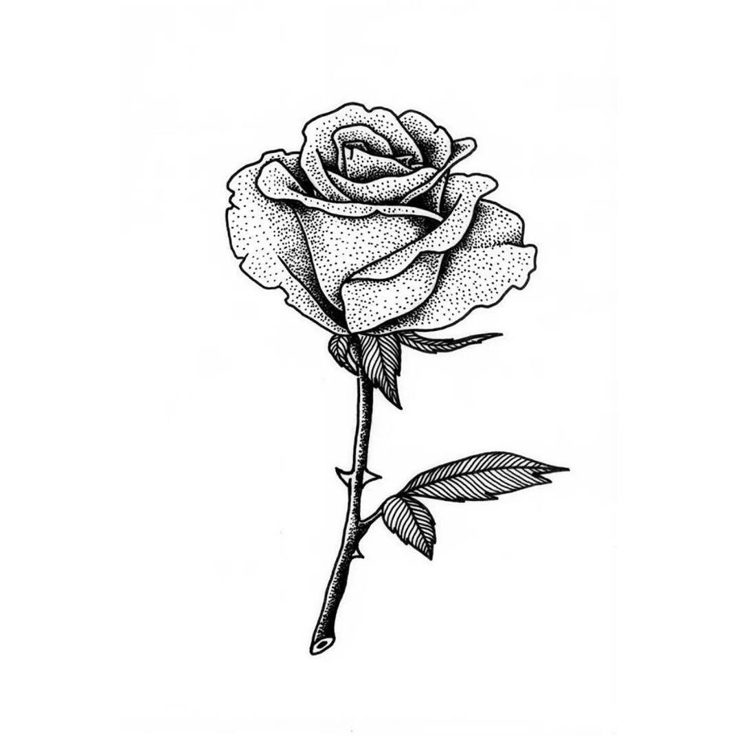 мини картинки для тату роза королёве было