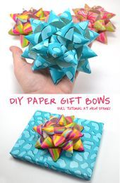 DIY Paper Gift Bows, seriously what a great idea  and they don't sound too h... - #Bows #DIY #Don39t #gift #Great #Idea #Paper #sound