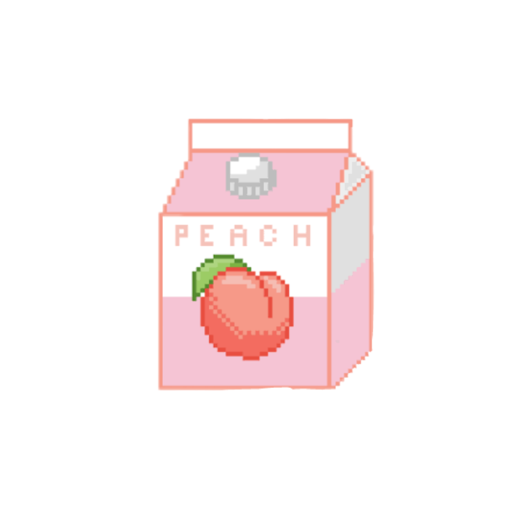 Discover The Coolest #pixel#peach#cute#tumblr Stickers