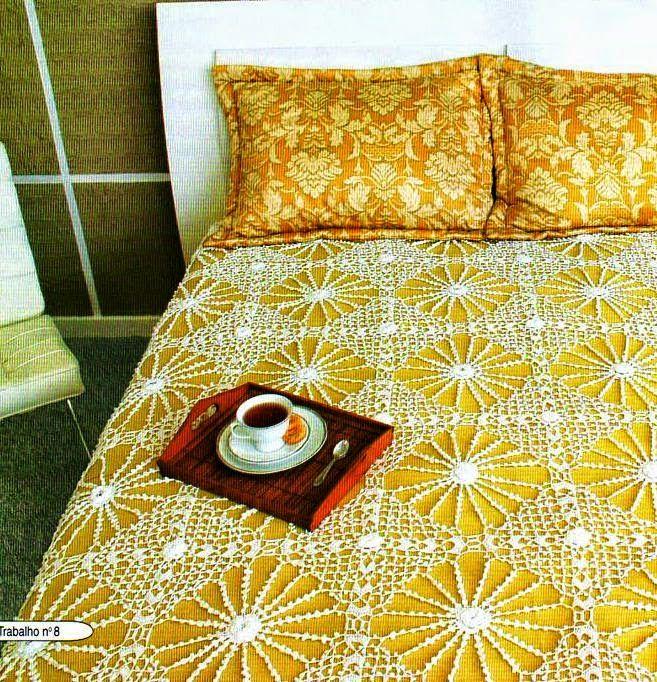 3 Finos cubrecamas al crochet - con patrones | mantas | Pinterest ...