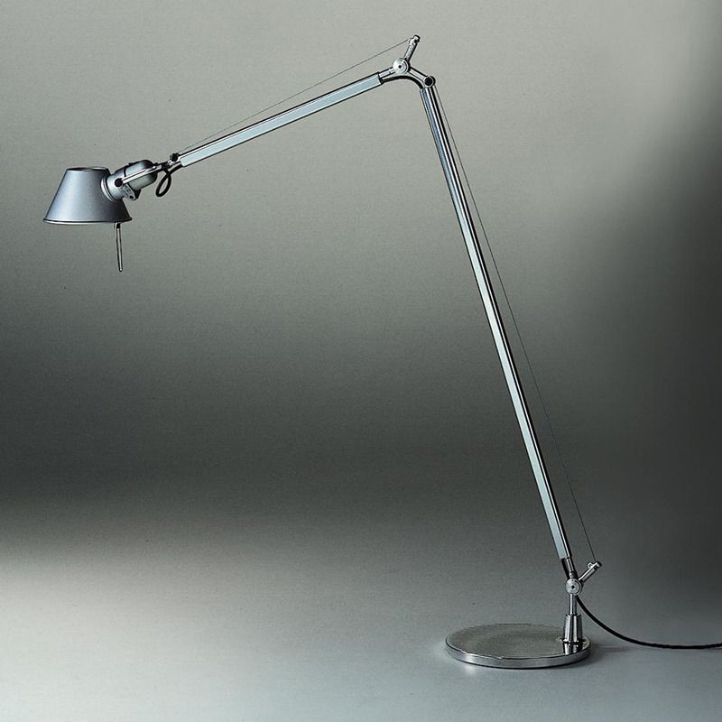 Artemide Tolomeo Reading Floor Lamp Floor Lamp Extruded Aluminum Desk Lamp