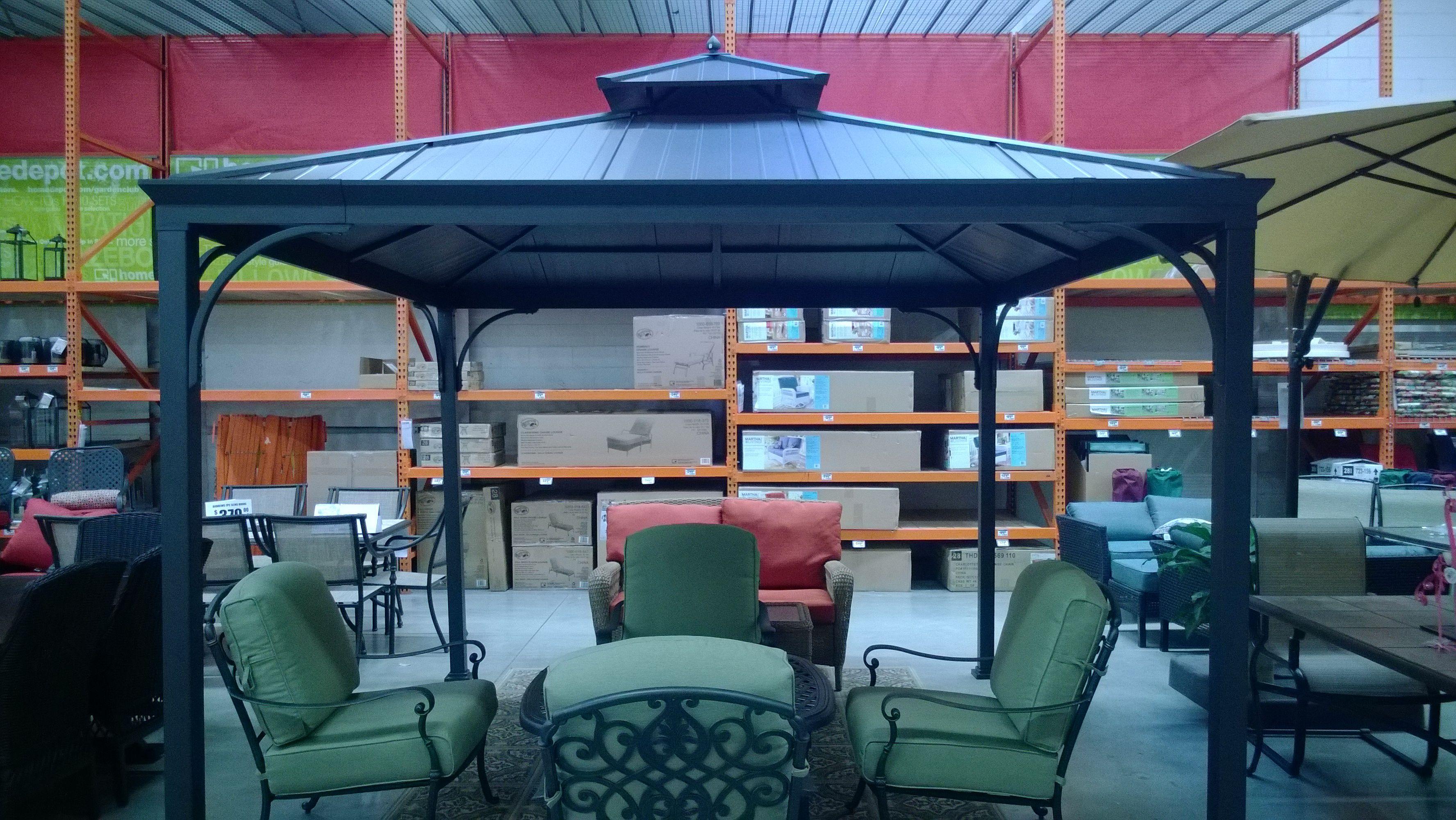 10x10 Metal Roof Gazebo Assembled. Hampton Bay Harper Assembly And Installation