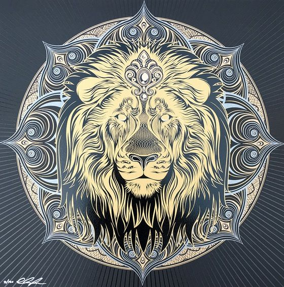 Image of IRON LION Lion mandala, Lion art, Lion tattoo