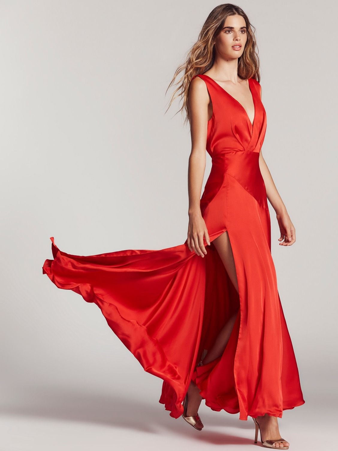 27a121ed7f0 Fame and Partners Cherry Red Essie Maxi Dress at Free People Clothing  Boutique