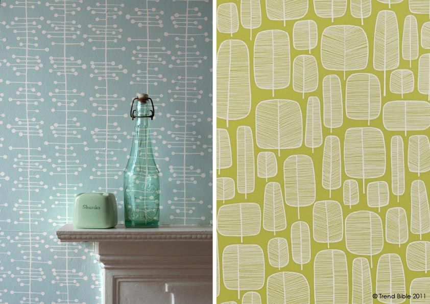 Textured effect wallpaper