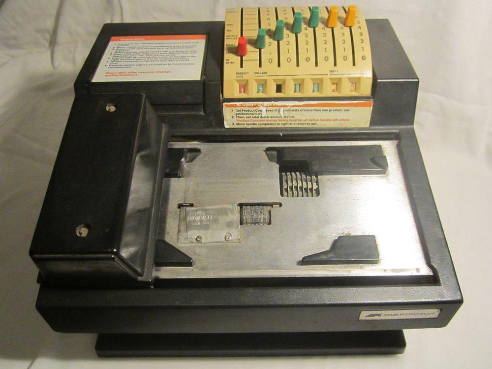 Vintage FARRINGTON ADDRESSOGRAPH Credit Card Reader MANUAL OPERATION [V59b-Ry]