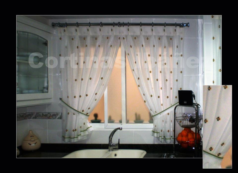 Visillos cocina en visillos bordados confeccionados - Visillos cocina confeccionados ...