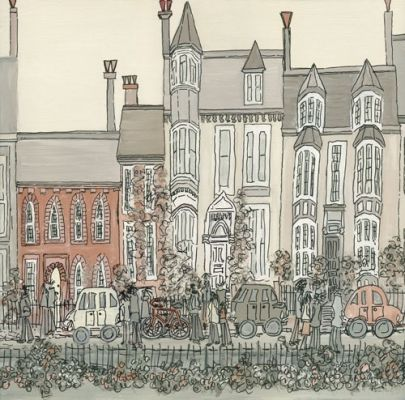 Based on the houses opposite Kings School Tynemouth this is another set of lovely buildings found in the North East. Tynemouth is full of them!  Signed limited edition print £70