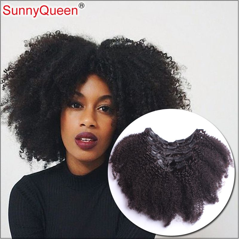 Clip in human hair extensions brazilian afro kinky curly clip in cheap clip in buy quality clips clip art directly from china clip spring suppliers clip in human hair extensions brazilian afro kinky curly clip in hair pmusecretfo Images