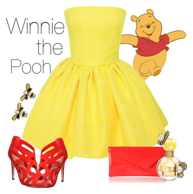 """Winnie the Pooh"" by violetvd ❤ liked on Polyvore featuring Martin Grant, Office, L.K.Bennett and Marc Jacobs"