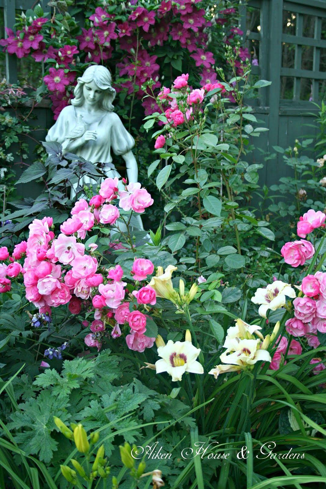 Aiken House & Gardens: Garden Tour Past & Present - roses, lilies…