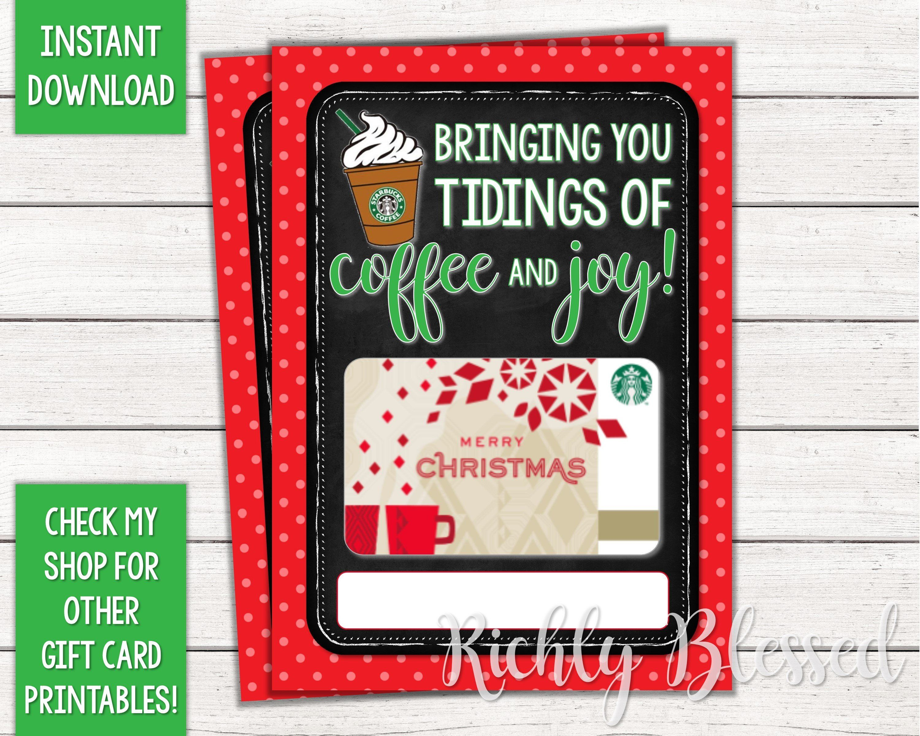 Instant Download Starbucks Gift Card Christmas Card Holder Etsy In 2020 Starbucks Gift Card Holder Starbucks Gift Card Christmas Gift Card Holders