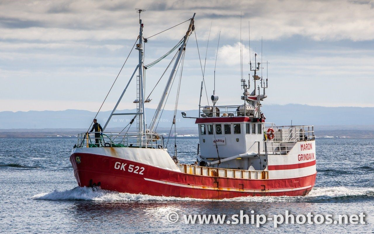 Commercial Fishing Boat 363 Maron Gk 522 With Home Port In