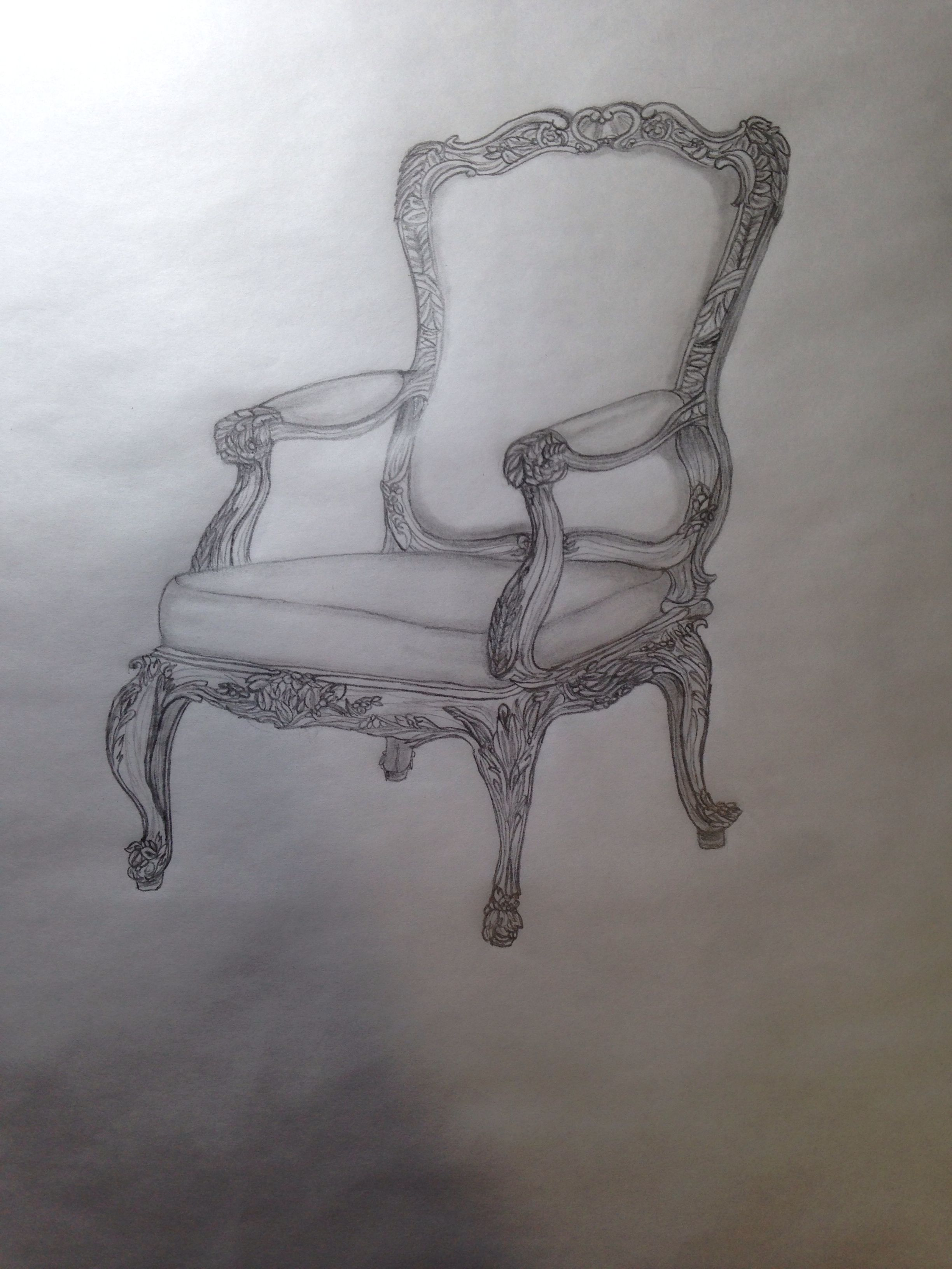 Fauteuil French Rococo Arm Chair