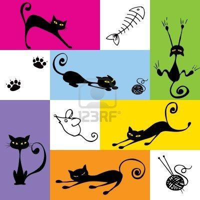 color block cats