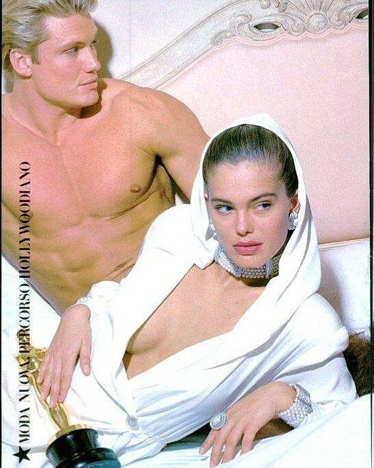 "*RocketQueen* on Instagram: ""Renee Simonsen and Dolph Lundgren. Vogue Italia April 1987. #reneetoftsimonsen #reneesimonsen #dolphlundgren #supermodel #80ssupermodel…"""