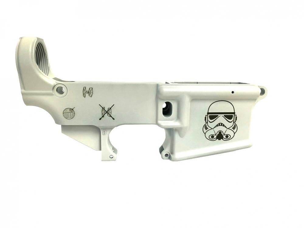 AR15 Special Edition STAR WARS 80% Lower Receiver - White