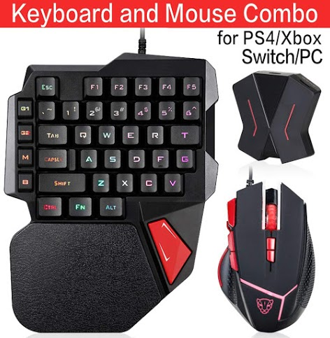Motospeed Custom Wired Backlight Mechanical Feel Gaming Keyboard And Mouse Combo For Ps4 Ps3 Xbox One Switch Including C91 Co Keyboard Keyboards Ps4 Console