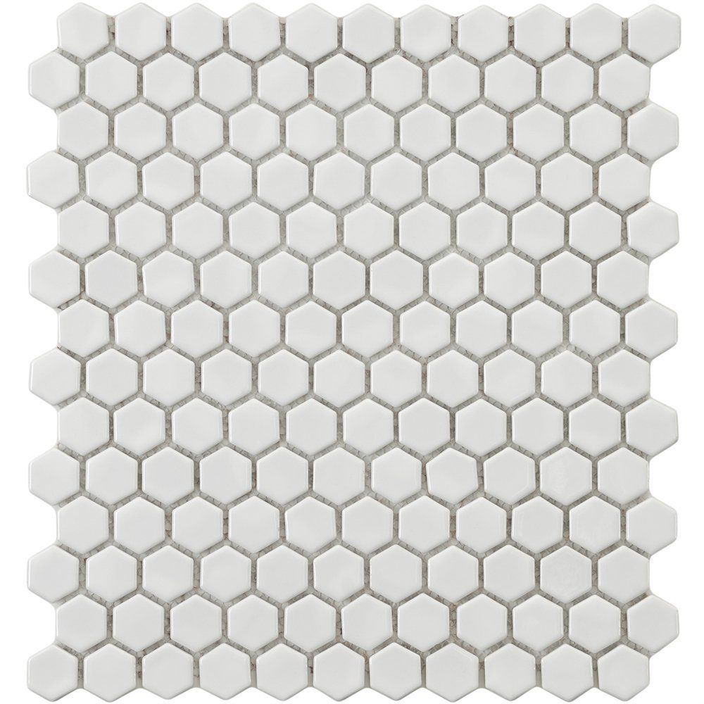 Hexagon penny tile! | Home | Pinterest | Penny tile, Grey grout and ...