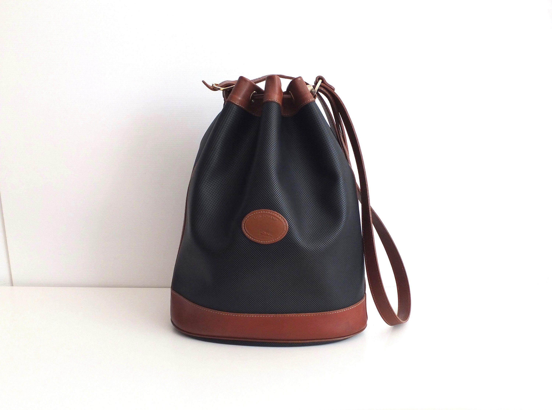 Longchamp, Longchamp, longchamp vintage 1980s leather bucket bag ...