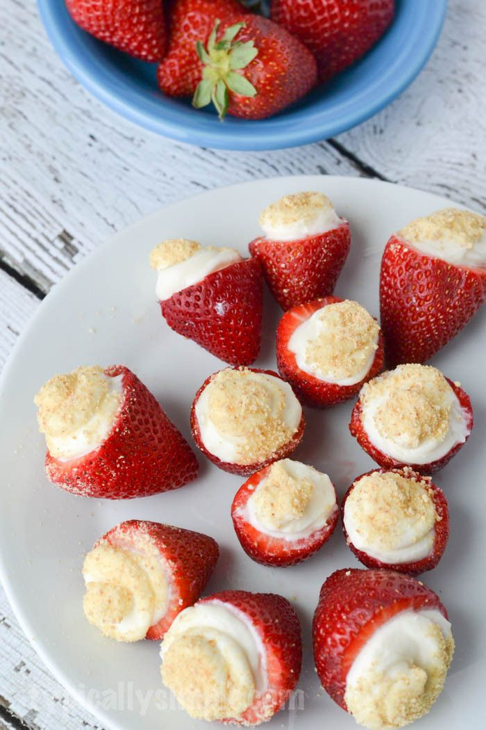 No Bake Strawberry Cheesecake Bites Recipe Finger food