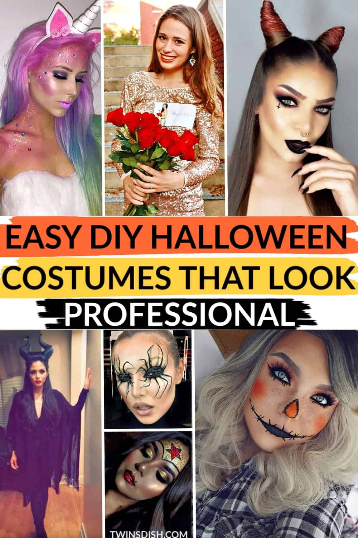 Easy Diy Cute Halloween Costumes.Easy Diy Last Minute Halloween Costumes For 2021 Twins Dish Diy Halloween Costumes Easy Diy Cute Halloween Costumes Diy Halloween Costumes For Women