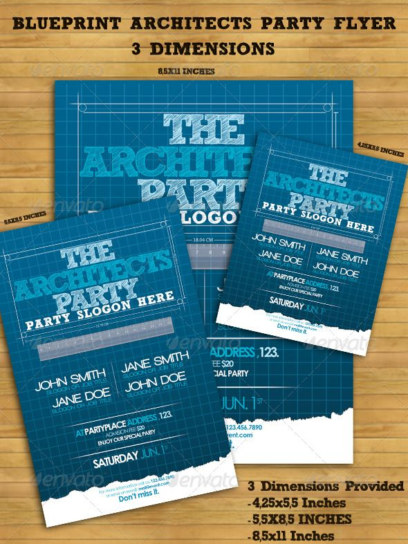 Blueprint architects party flyer grad parties birthdays and buy blueprint architects party flyer by uniquecreativity on graphicriver description this is a complete print ready architects party flyer malvernweather Gallery
