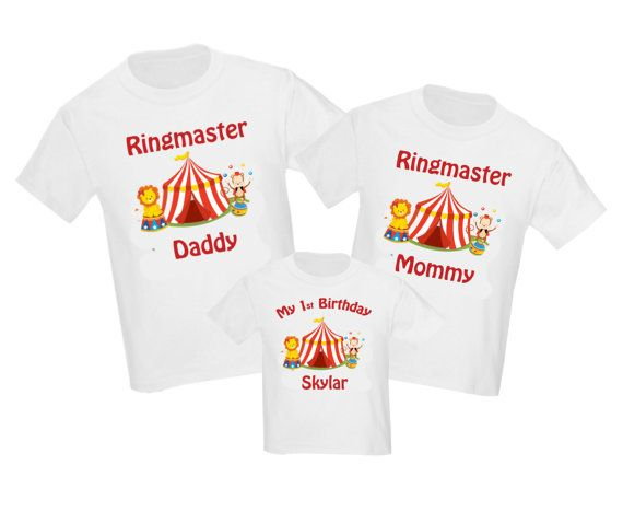Set Of 3 Circus Carnival Birthday Family Shirts By DesignsByManon
