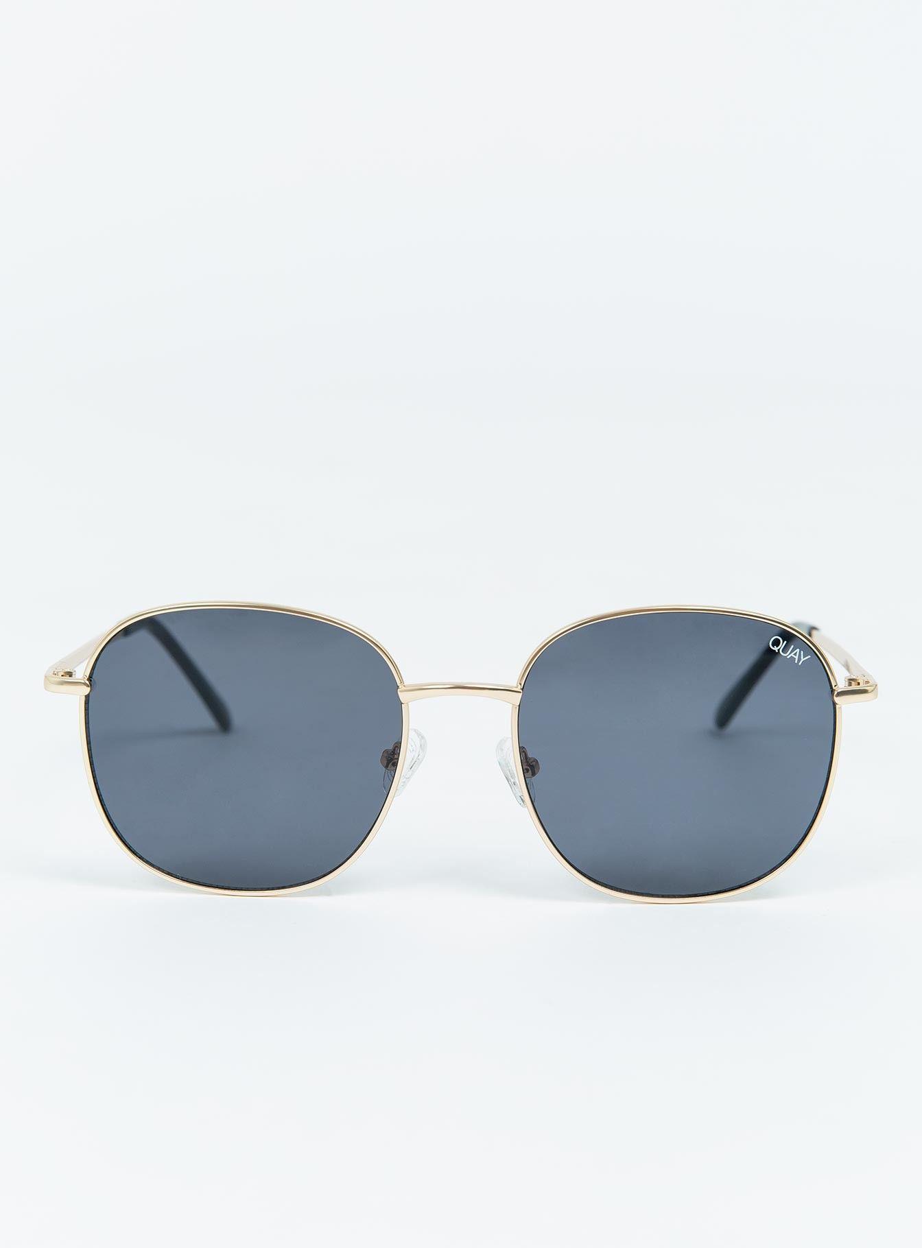 bb22a93c85e Quay Jezabell Sunglasses Gold Smoke