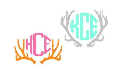 Custom Deer Antler Monogram Vinyl Car Decal My Shop Country - Monogrammed custom vinyl decals for car