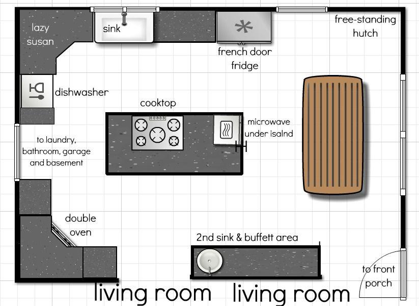 Our Kitchen Floor Plan A Few More Ideas Andrea Dekker Kitchen Floor Plans House Floor Design Modern Kitchen Floor Plans