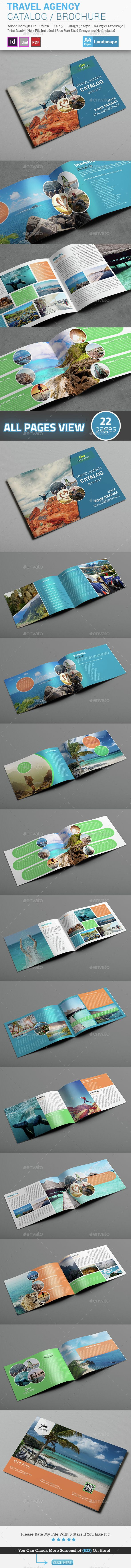 Travel Agency Brochure / Catalog Template | Diseño editorial ...