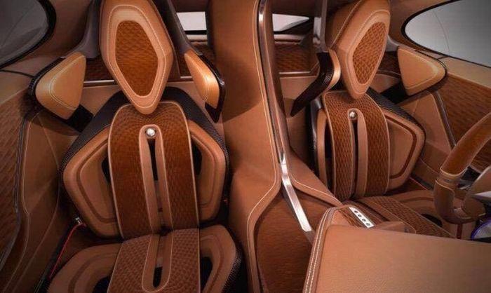 Bugatti Chiron | Дизайн салона автомобиля