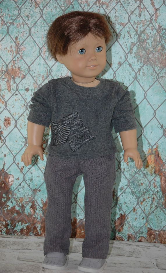 """This 18 doll set includes:  *Princess sleeve blouse *Pocket Jeans *Shoes  This set is made to fit 18"""" dolls such as the American Girl doll, Our"""
