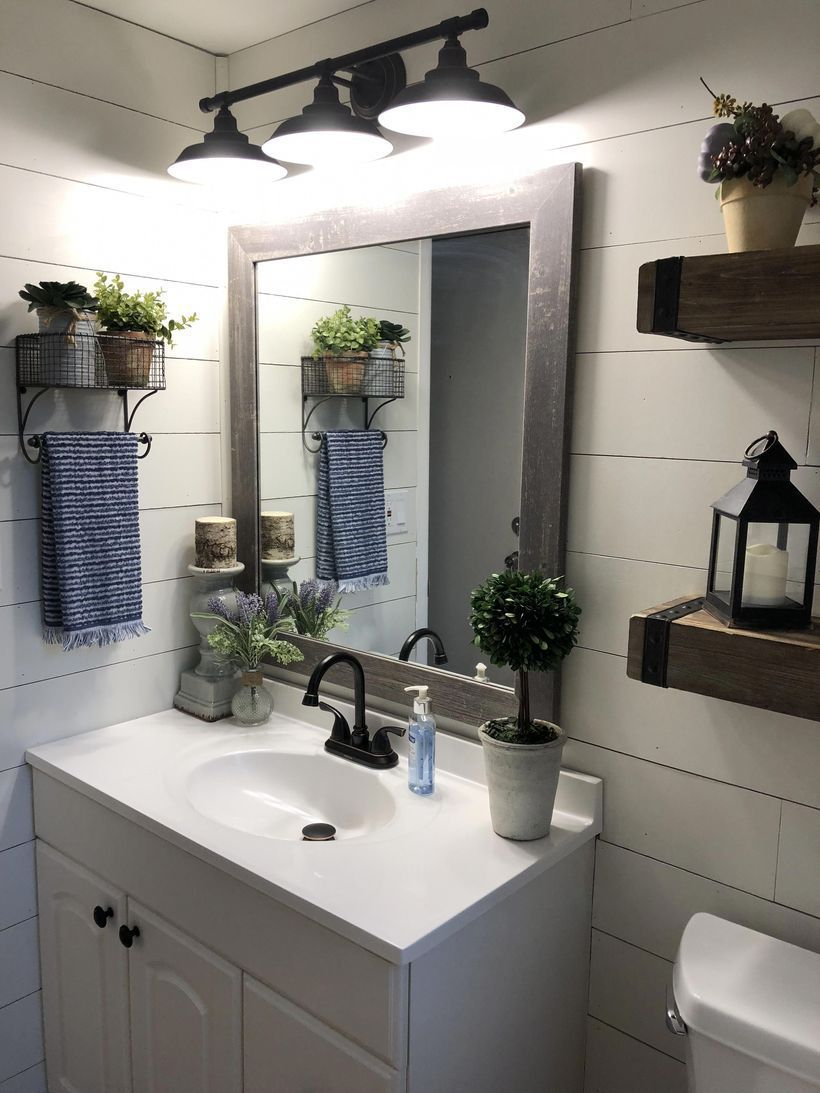 57 Beautiful Rustic Small Bathroom Remodel Ideas On A Budget