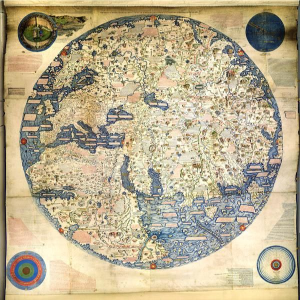 The fra mauro world map made by the italian monk c1450 which the fra mauro world map made by the italian monk c1450 which reaches as far afield as morocco and china gumiabroncs Images