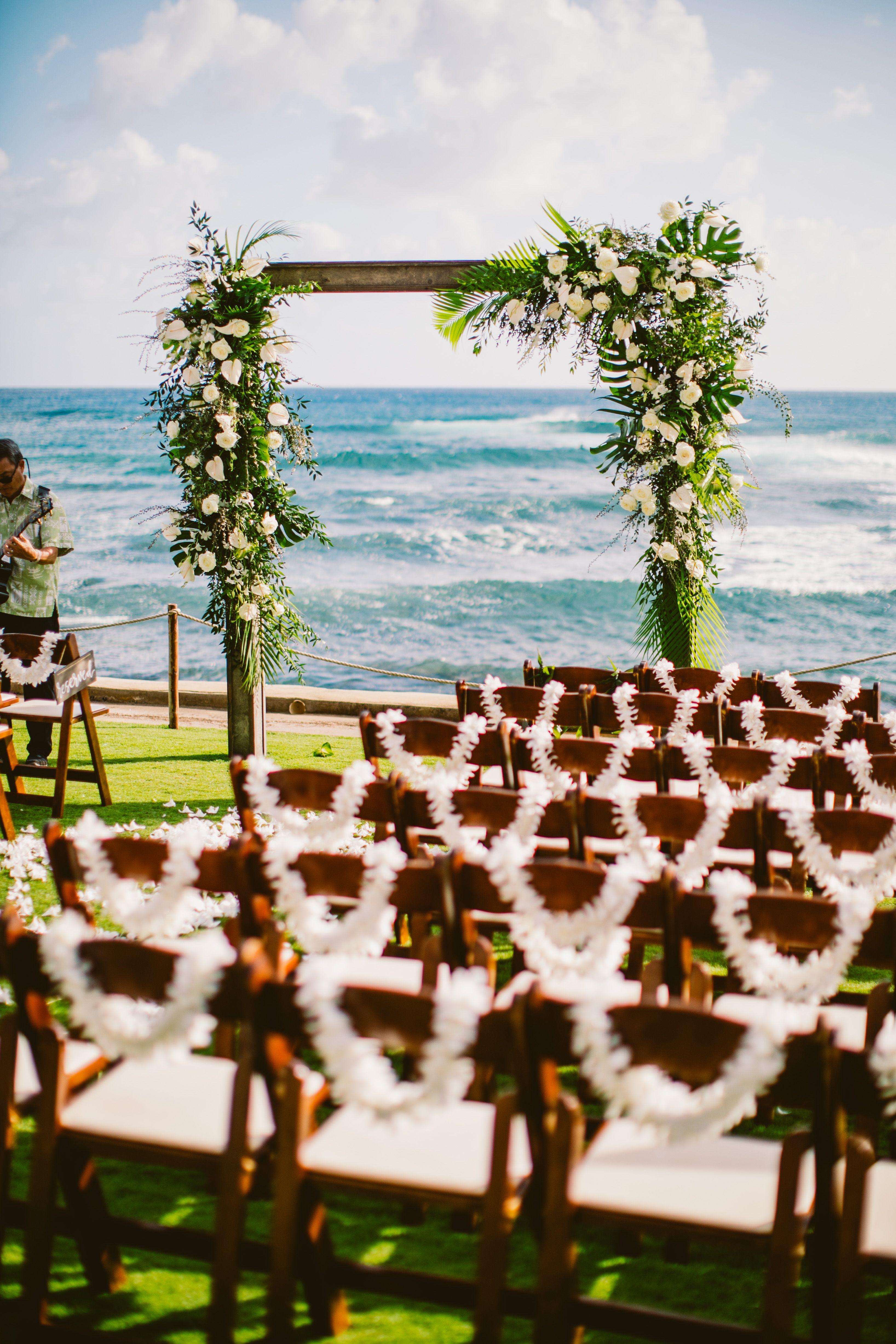 A Oceanfront Beach Wedding At The Beach House Kauai In 2020 Maui Wedding Venues Beach Wedding Venues Hawaii Hawaii Beach Wedding
