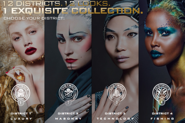 An Interview With The Official Capitol Makeup Artist On The Hunger Games Catching Fire Cover Girl Makeup Hunger Games Covergirl