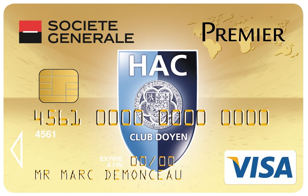 Carte Visa Premier Societegenerale Football Havre Atheltic Club