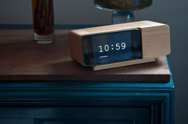 5 Modern Iphone Docking Stations Alarm Clock Iphone Areaware Wood Phone Stand