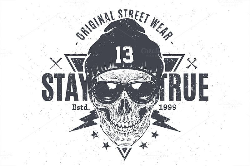 Stay True | Print with Skull by Vecster on @creativemarket