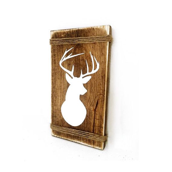 Deer Wall Mount Rustic Wood Sign   Indie Home Decor, Gifts For Her, Country  Cabin Decor, Hunting Sign, Reclaimed Pallet, Aztec Bedroom