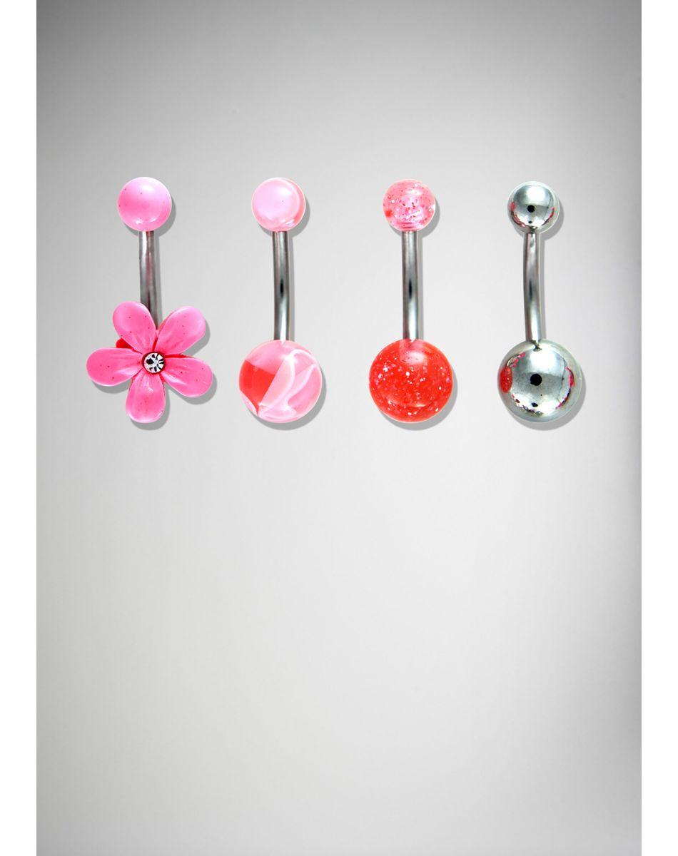 4 belly button piercing  Flower Glitter Belly Button Rings  bedroom  Pinterest  Belly