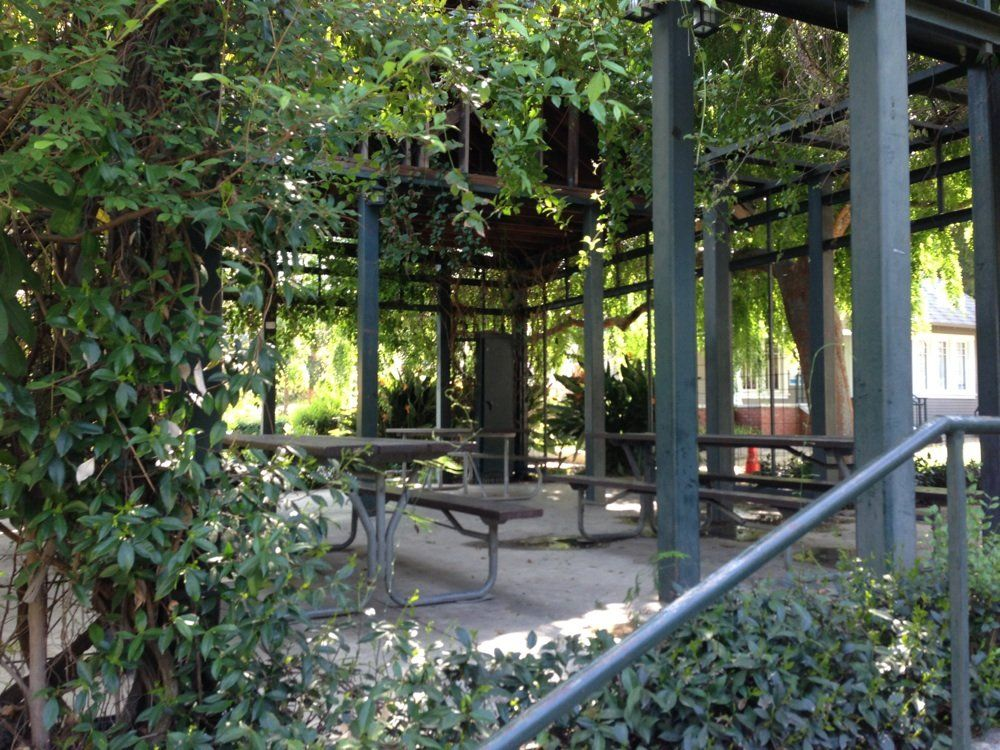 Wedding Day Photo Session - Highland Camrose Park - Los Angeles, CA, United States. Romantic gazebo to picnic before a Hollywood Bowl event.