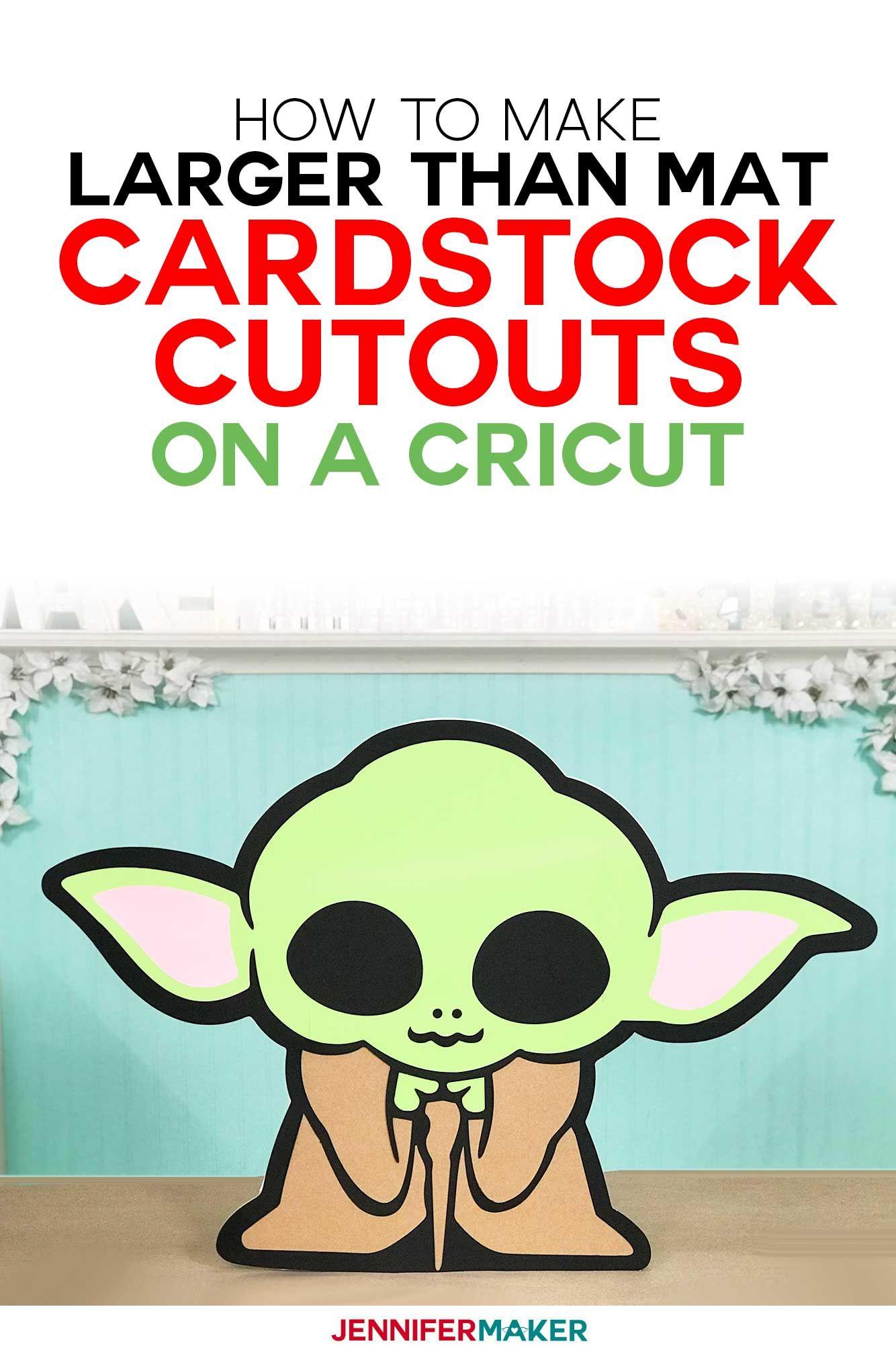 Baby Yoda Cricut Image : cricut, image, Cardstock, Cutouts, Larger, Jennifer, Maker, Stock,, Cricut,, Cricut, Tutorials