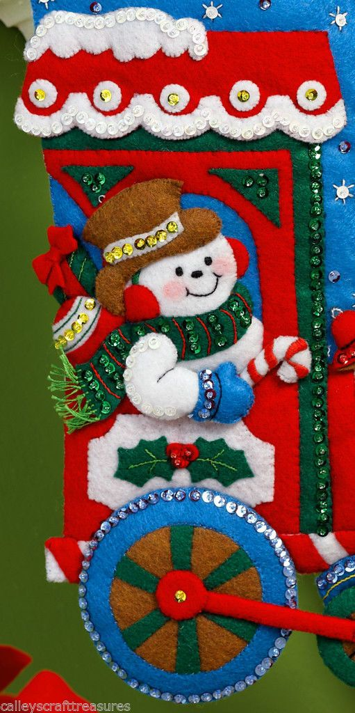 Bucilla 2013 Special Release ~ All Aboard ~ 16 Felt Christmas